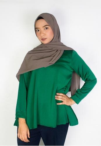 Zaryluq green Flare Blouse in Mystique FEA4FAA64C55B8GS_1