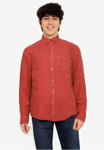 Abercrombie & Fitch brown Long Sleeve Solid Shirt 7E6F3AA193BBD3GS_1