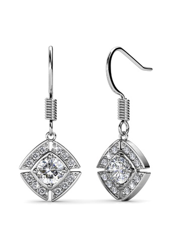 Krystal Couture gold KRYSTAL COUTURE White Gold Brilliant Cut Hook Earrings Embellished With Swarovski® Crystals 01582AC352087DGS_1