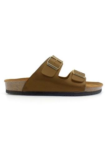 SoleSimple brown Athens - Camel Leather Sandals & Flip Flops C9326SHD8097B6GS_1
