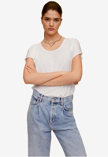 Mango white Basic T-Shirt 87B00AA7875B6AGS_1