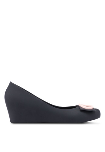 Twenty Eight Shoes black Elegant Jelly Wedges 58EEESH1913256GS_1