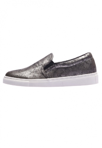 paperplanes silver SNRD-115 Fashion Shiny Solid Slip-Ons Sneakers PA110SH29PASHK_1