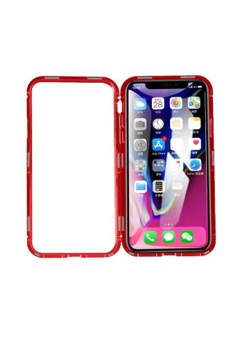 MobileHub red iPhone XR 360 Degree Magnetic Metal Bumper Case 406B4AC339AD4BGS_1