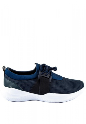 Otto blue Lace up Technical Trainers 8CF39SHA9F1789GS_1