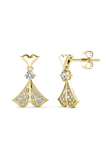 Her Jewellery gold Rain Doll Earrings (Yellow Gold) - Made with premium grade crystals from Austria 145F3AC24A8C90GS_1