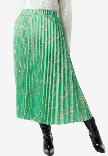 NA-KD 多色 鏈條印花褶飾裙 0B59BAA5B3C00CGS_1