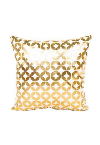 DILAS HOME Star Gold Print Cushion Cover F3F84HL618B5D2GS_1