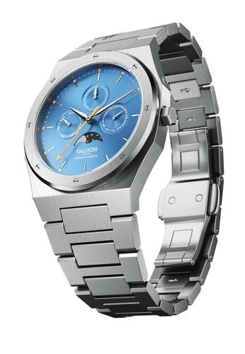 Valuchi 銀色 农历40mm银色蓝色 BA67DACAF66E89GS_1