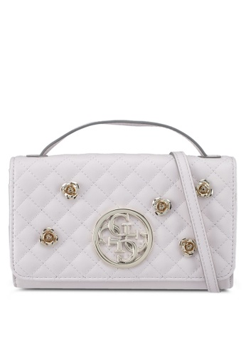 Guess white G Lux Mini Sling Wallet 92879AC6CECBBFGS_1
