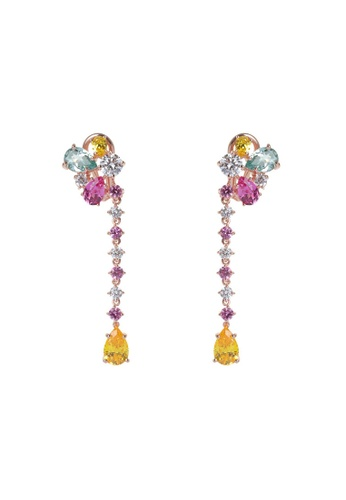 Arte Madrid pink and yellow and green Arte Madrid Tropical Dream Tropical Celebration Drop Earrings E9F69ACAAA91B3GS_1