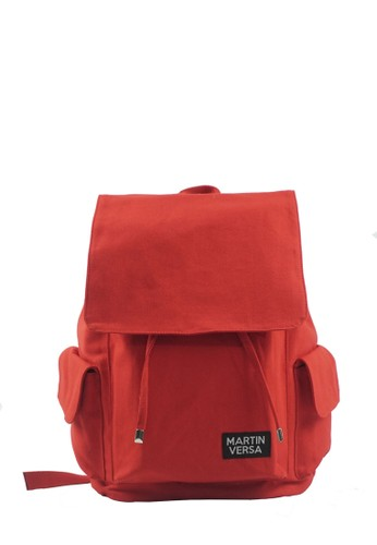 Martin Versa red Martin Versa TR1 Tas Ransel Pria Laptop Kanvas Man Backpack - Merah 2521AAC9EDE349GS_1