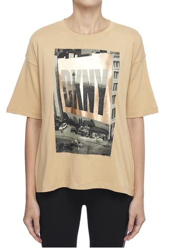 DKNY brown DKNY Women Dkny Billboard T-Shirt - Brown 20A5EAA2AB9591GS_1