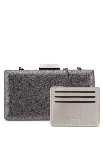 Papillon Clutch grey Vogue Style Clutch 959B4AC063AFA1GS_1