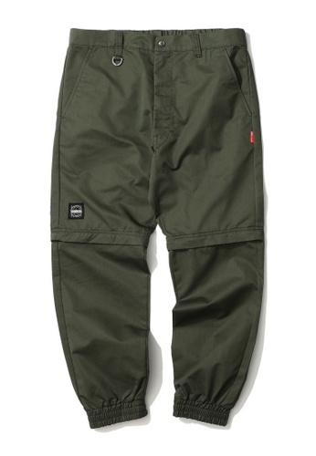 izzue green Graphic print detachable sweatpants 7447FAA27C8C23GS_1