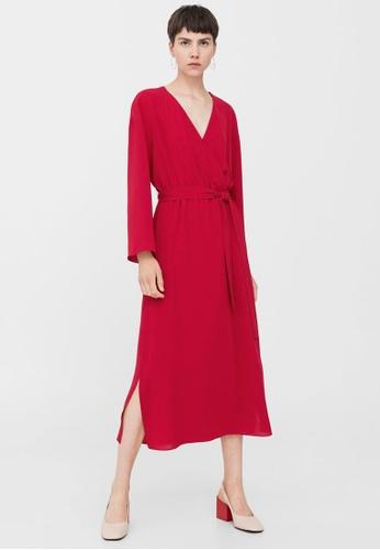 Mango red Bow Wrap Dress MA193AA0RAW3MY_1
