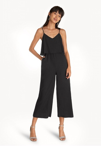 898219c9b73d Buy Pomelo Relaxed Spaghetti Strap Jumpsuit - Black Online on ZALORA ...