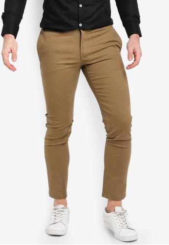 High Cultured brown Slim-Fit Heavy Chino Long Pants-123 0DBCAAA10E862FGS_1
