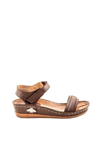 Otto brown Velcro Strap Sandals A894CSH8376F25GS_1