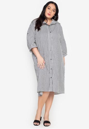 Amelia black Charlene Plus Size Polo Dress 022F5AAA714955GS_1