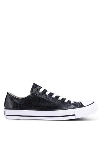 Converse 黑色 漆皮低筒運動鞋 E27BESHFED3949GS_1