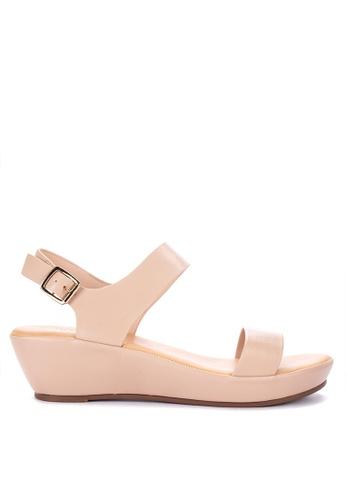 05e49c354 Shop CLN Hannah Sling Back Wedge Sandals Online on ZALORA Philippines