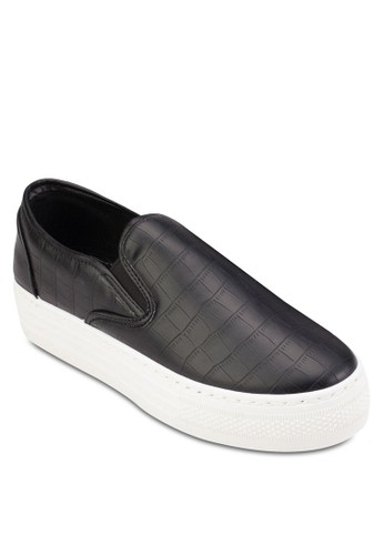 亮面鱷魚紋厚底懶人鞋,esprit outlet 台中 女鞋, 鞋