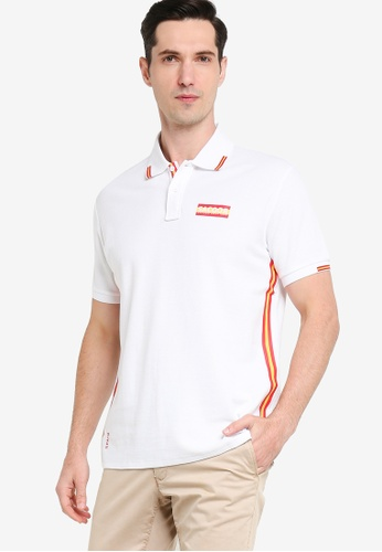 Sacoor Brothers white Polo-shirt Slim Fit Made of Piquet A3E8BAA6731B0CGS_1