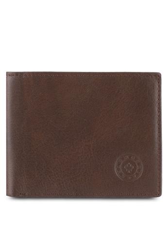 Lumberjacks brown Lumberjacks Genuine Leather Bi-Fold Wallet LU545AC0SMDBMY_1