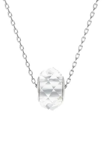 Her Jewellery white BeCharmed Briolette Bead Pendant (Crystal White) - Made with premium grade crystals from Austria 3E9CAACDF05D66GS_1