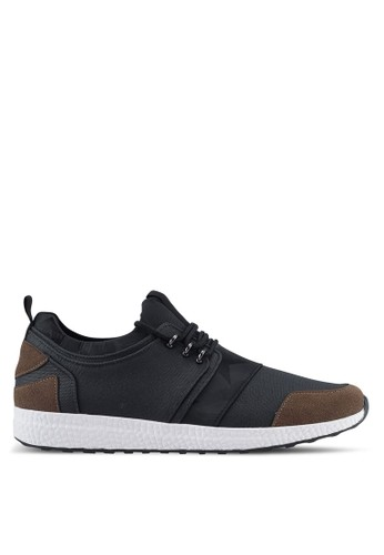 ZALORA black Mix Material Canvas Sneakers CCE3BSHD500146GS_1
