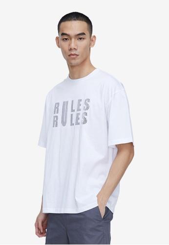 URBAN REVIVO white Casual Print T-Shirt CF123AA6A2CADBGS_1