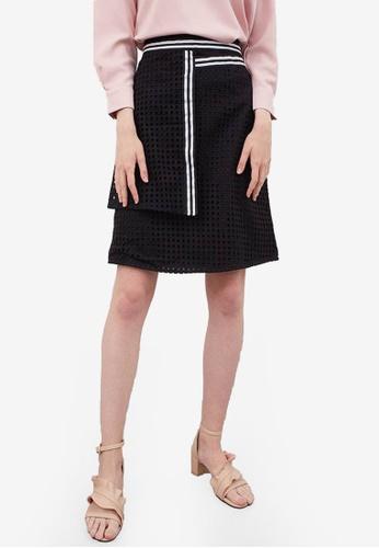 Berrybenka black Falica Lace Skirt B2383AAFF8C949GS_1