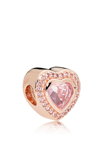 1a8706af8a656 Heart Pandora Rose Charm With Pink Mist Crystal