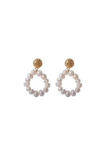 SKEDA gold Melissa Pearl Drop Earrings 27F68AC1E37157GS_1