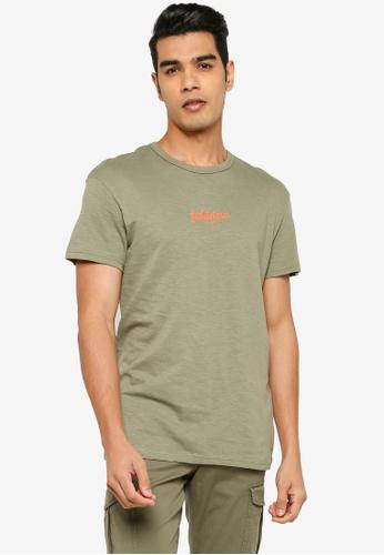 Jack & Jones green Short Sleeve Print T-Shirt F08C4AA60E82F0GS_1