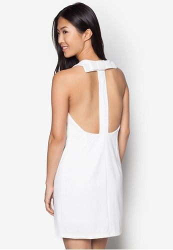 Margot Knot Back Strzalora 順豐aight-Cut Dress, 服飾, 洋裝