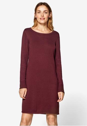 ESPRIT red Fkat Knitted Midi Dress F9F63AA05A043FGS_1