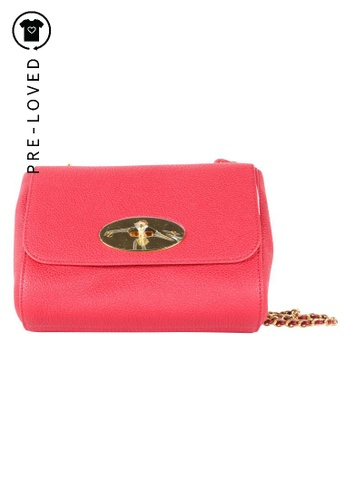 MULBERRY red Pre-Loved mulberry Red Lily Small Classic Grain Bag 8DC55AC92E3E7FGS_1