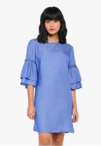 Dorothy Perkins blue Bright Blue 2 Tier Ruffle Dress 6A8AEAA060B2B5GS_1