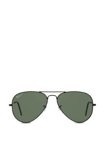 6014c94adb32 Ray-Ban Aviator Large Metal RB3025 Polarized Sunglasses RA370GL47SAASG 1