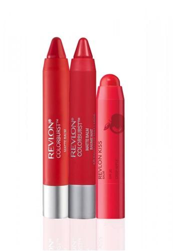 Revlon red Revlon Kiss™ Balm Crisp Apple 2.6g & Matte Balm 2.7g * 2 Ea Set RE737BE34YRLSG_1