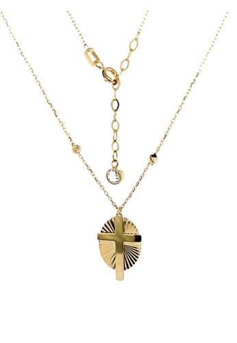 KARAT WORLD gold HQZ 18Kt Yellow Gold Chain Pendant C185FACBB6C139GS_1