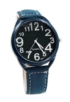 WOW-A Brett Unisex Denim Blue Leather Strap Watch A010
