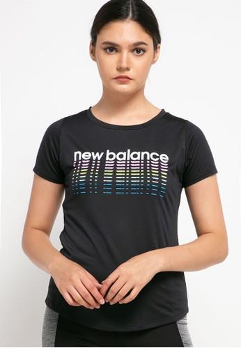 New Balance black Printed Accelerate Shortsleeve V2 BE18EAA8E4A14DGS_1