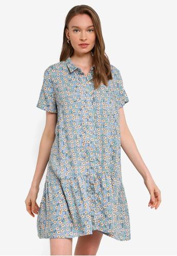 Compania Fantastica blue Floral Shirt Dress BB1CAAA5DF57C3GS_1