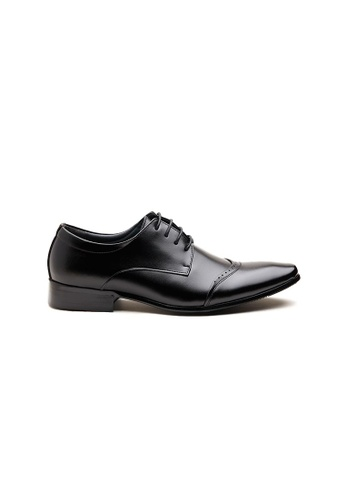 Kings Collection black Alcott Leather Shoes 1E8DBSH38ADB8BGS_1