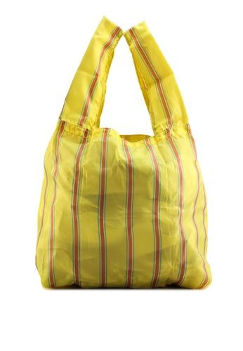 GLOBAL WORK yellow Paper Effect Bag 8EC80ACADCA6B4GS_1