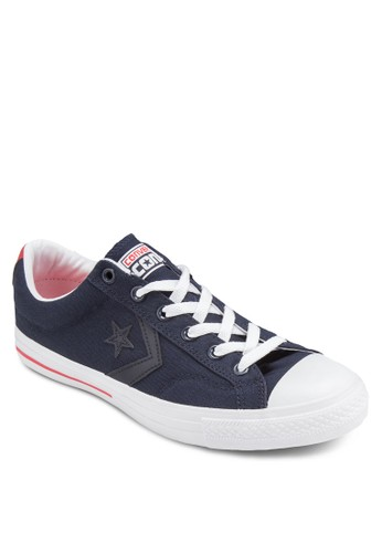 CONS Star 帆布繫帶休閒鞋、 鞋、 鞋ConverseCONSStar帆布繫帶休閒鞋最新折價
