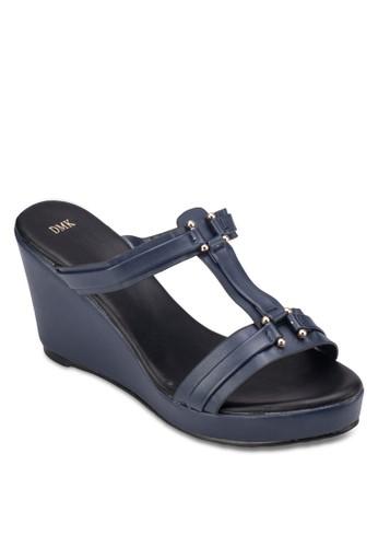 工字帶楔型涼鞋, 女鞋,esprit tw 楔形涼鞋